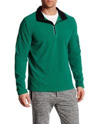 Fila | Green Encore Quarter Zip Fleece Pullover for Men | Lyst