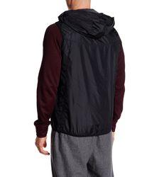 Fila - Black Stand Out Wind Vest for Men - Lyst