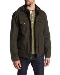 Levi's | Green Canvas Jacket for Men | Lyst