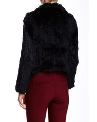 Love Token - Black Daisy Genuine Dyed Rabbit Fur Trim Vest - Lyst