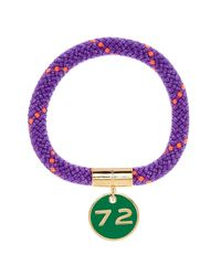 Marc By Marc Jacobs | Purple Location Gold-tone, Cord And Enamel Bracelet | Lyst