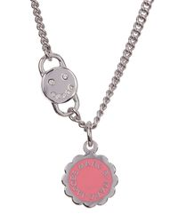 Marc By Marc Jacobs | Pink Scalloped Disc-o Pendant Necklace | Lyst