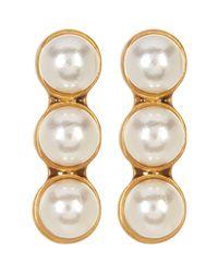 Marc Jacobs - Metallic Faux Pearl Dot Earrings - Lyst