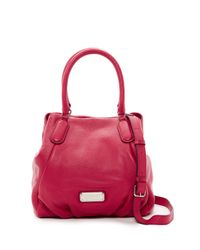 Marc By Marc Jacobs | Pink New Q Fran Leather Satchel | Lyst