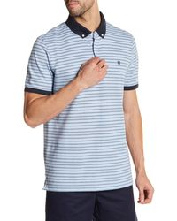 Victorinox | Blue Short Sleeve Stripe Tailored Fit Polo for Men | Lyst