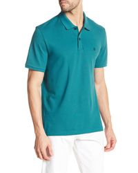 Victorinox | Blue Short Sleeve Tailored Fit Polo for Men | Lyst