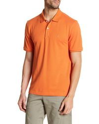 Victorinox | Orange Short Sleeve Tailored Fit Polo for Men | Lyst