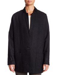 Muubaa - Blue Oversized Wool Blend Blazer - Lyst