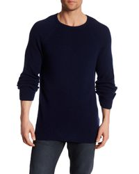 Billy Reid | Blue Directional Crew Neck Cashmere Sweater for Men | Lyst