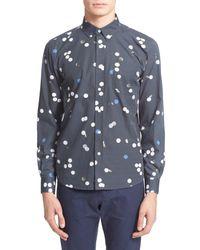 Saturdays NYC   Black Crosby Polka Dot Long Sleeve Trim Fit Shirt for Men   Lyst