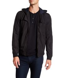 VINCE | Black Full Zip Hoodie for Men | Lyst