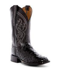 Lucchese | Black Genuine Ostrich Cowboy Boot for Men | Lyst