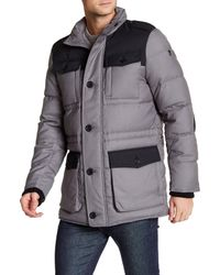 Victorinox | Gray Lausanne Colorblock Quilted Jacket for Men | Lyst