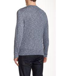 DKNY - Blue Space Dye V-neck Sweater for Men - Lyst