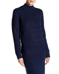 Marc By Marc Jacobs | Blue Merino Wool Quilted Compact Sweater | Lyst