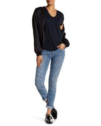 Marc By Marc Jacobs | Blue Painted Leopard Skinny Denim Jean | Lyst