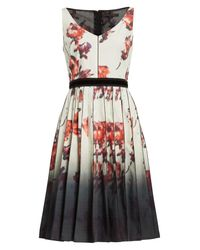 Marc Jacobs - Multicolor Floral Print Pleated Stretch Cotton Dress - Lyst