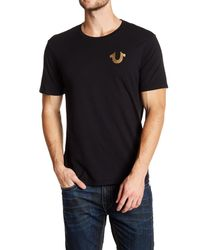 True Religion | Black Gold Buddha Logo Crew Neck Graphic Tee for Men | Lyst
