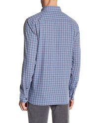 Victorinox - Blue Long Sleeve Plaid Tailored Fit Shirt for Men - Lyst