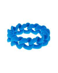 Marc Jacobs | Blue Haute Mess Rubber Curb Chain Bracelet | Lyst