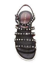 Marc Jacobs   Black Gena 5 Strap Nailhead Sandal   Lyst