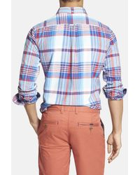 Ben Sherman - Blue Summer Check Slim Fit Long Sleeve Shirt for Men - Lyst