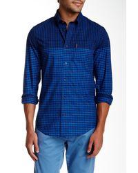 Ben Sherman | Blue Long Sleeve Slim Fit Gingham Shirt for Men | Lyst