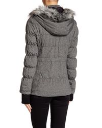 Blanc and Noir - Black Faux Fur Knit Down Anorak - Lyst