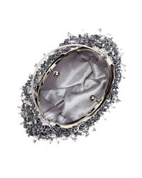 Harvé Benard - Metallic Embellished Evening Clutch - Lyst