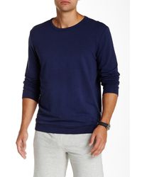 Onia | Blue Owen Crew Neck Sweatshirt for Men | Lyst