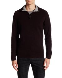 Ben Sherman - Black Half Zip Funnel Neck Pullover for Men - Lyst