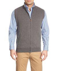 Peter Millar | Gray Zip Front Fleece Vest for Men | Lyst