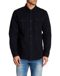 RVCA | Black Baseline Long Sleeve Regular Fit Shirt for Men | Lyst