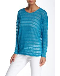 Bobeau - Blue Dolman Sleeve Sweater - Lyst