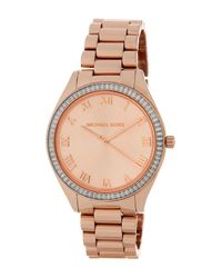 MICHAEL Michael Kors | Multicolor Women's Blake Crystal Accented Bracelet Watch | Lyst