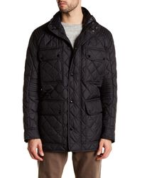 Andrew Marc | Black Essex Quilted Jacket for Men | Lyst