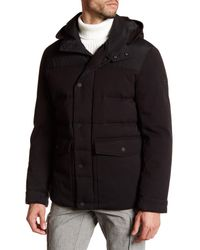 Michael Kors | Black Hooded Lincoln Coat for Men | Lyst