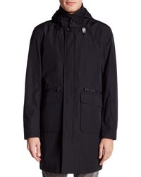 Michael Kors - Black Conway Long Sleeve Interior Vest Outerwear Hooded Coat for Men - Lyst