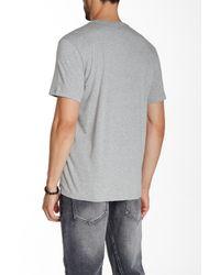 Kenneth Cole - Gray Contrast Stripe Henley Tee for Men - Lyst