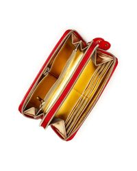 Steve Madden | Multicolor Patent Double Zip Around Wallet | Lyst