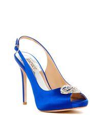 Badgley Mischka - Blue Adorn Embellished Slingback Pump - Lyst