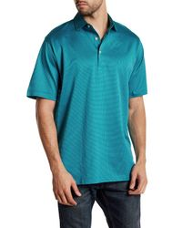 Peter Millar | Blue Three Color Pin Dot Polo for Men | Lyst
