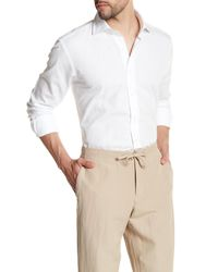 Peter Millar - White Regular Fit Solid Sport Shirt for Men - Lyst