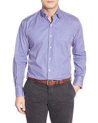 Peter Millar | Purple Mini Tattersall Regular Fit Sport Shirt for Men | Lyst