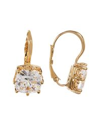 Nadri - Metallic Square Crystal Solitaire Drop Earrings - Lyst