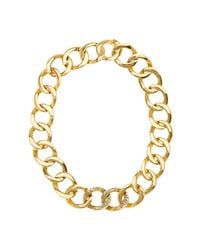 House of Harlow 1960 | Metallic Ra Engraved Chain Necklace | Lyst