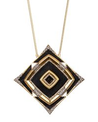 House of Harlow 1960 | Black Lady Of The Lake Pendant Necklace | Lyst