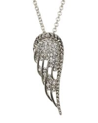House of Harlow 1960 | Metallic Embellished Angel Wing Pendant Necklace | Lyst