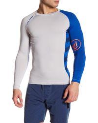 Volcom | Blue Change Up Long Sleeve Rashguard for Men | Lyst