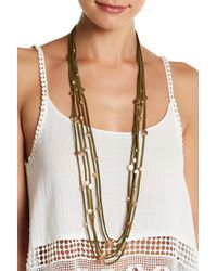 Sparkling Sage - Multicolor Five Strand Detailed Choker And Long Layer Dual Function Necklace - Lyst